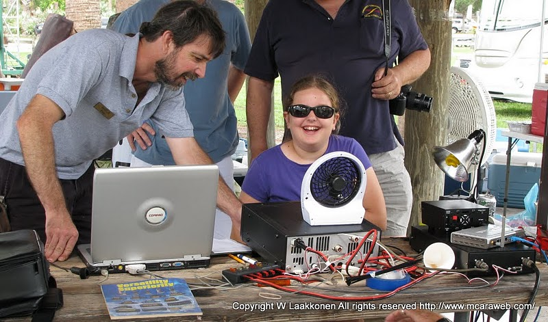 Caroline Nolan (age 12) at ARRL Field Day 2012